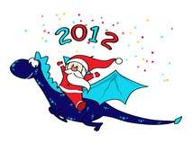 Santa on dragon Stock Photo