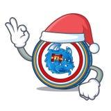Santa Dragonchain coin mascot cartoon. Vector illustration Royalty Free Stock Images