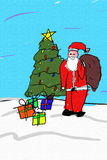 Santa Drawing Royalty Free Stock Image