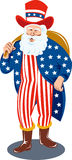 Santa  dressed as Uncle Sam Royalty Free Stock Image