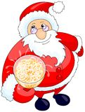 Santa Drinking Champagne Royalty Free Stock Images