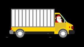 Santa and a van