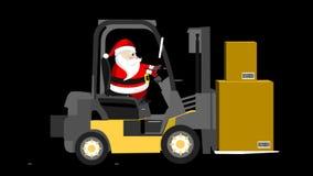 Santa and forklift van