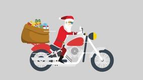 Santa and his motorbike