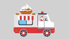Santa an ice cream van