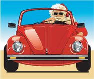 Santa Driving Vector Illustration vector illustratie