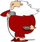 Santa Drying His Beard Stock Photo