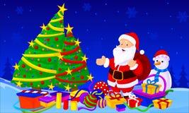 Santa drzewo Obraz Royalty Free
