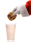 Santa Dunking Cookie Stock Photography