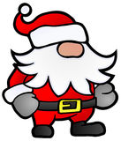 Santa Dwarf. Small Santa Claus cartoon, stylized  Christmas illustration, isolated Stock Image