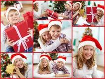 Santa dzieciaki zdjęcie royalty free