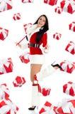Santa dziewczyny kreatywnie projekt Zdjęcie Stock
