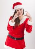 Santa dziewczyny phorographer obrazy stock