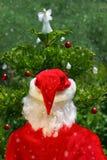 Santa e árvore Imagem de Stock