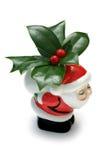Santa e azevinho Fotos de Stock Royalty Free