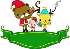 Santa e cervos Fotografia de Stock Royalty Free