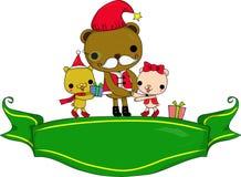 Santa e criança ilustração stock