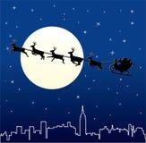 Santa e deers illustrazione vettoriale