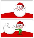 Santa e duende Fotografia de Stock
