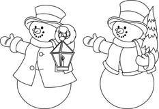 Santa e la sua renna Rudolf Immagine Stock Libera da Diritti