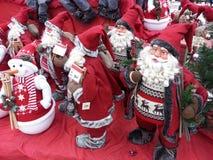 Santa e pupazzi di neve Immagini Stock