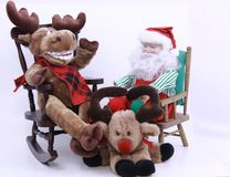 Santa e rena Foto de Stock