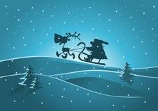 Santa e renna Immagini Stock Libere da Diritti