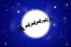 Santa e renna di natale Fotografia Stock Libera da Diritti