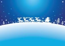 Santa e renne Fotografie Stock