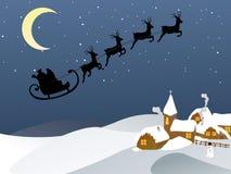 Santa e seu trenó Fotografia de Stock
