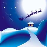 Santa e seu trenó Fotografia de Stock Royalty Free