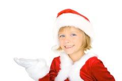 Santa e um presente Foto de Stock