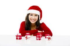 Santa effectuent une présentation Photos libres de droits