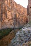 Santa Elena Canyon auf Rio Grand River im große Biegungs-Nationalpark, Texas stockbilder