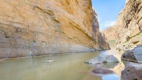 Santa Elena Canyon, parque nacional de la curva grande, TX Fotos de archivo