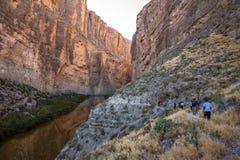 Santa Elena Canyon on the Rio Grand River in Big Bend National Park, Texas. On the USA and Mexico border. Natural international border royalty free stock photo