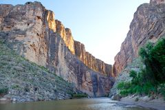 Santa Elena Canyon and Rio Grande, Big Bend NP, TX Royalty Free Stock Photo