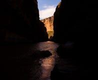 Santa Elena Canyon of the Rio Grande River Stock Photos