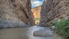 Santa Elena Canyon of the Rio Grande River Royalty Free Stock Photo