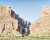 Santa Elena Canyon Ross Maxwell Scenic Drive, stor krökningnationalpark, TX Arkivbilder