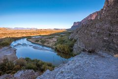 Santa Elena Canyon royalty free stock image