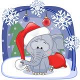Santa Elephant Imagen de archivo libre de regalías
