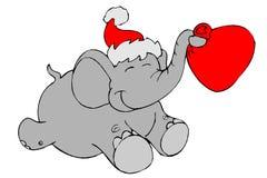 Santa elephant Stock Image