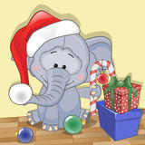Santa Elephant Stock Photo