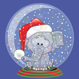 Santa Elephant Royalty Free Stock Image