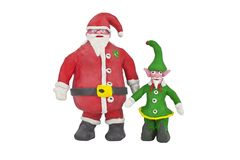 Santa and the Elf Stock Photography