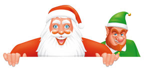 Santa and elf banner Royalty Free Stock Photography