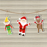 Santa Elf Reindeer royalty illustrazione gratis