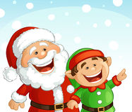 Santa and Elf Royalty Free Stock Photos