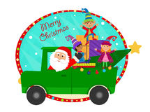 Santa And Elves Royalty Free Stock Photos